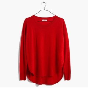 Madewell Red Northstar Wool Pullover Sweater